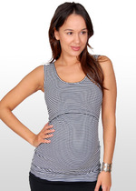 Black & white striped nursing singlet