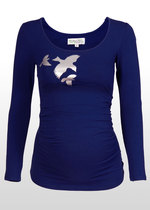 Silver Swallows Maternity T-shirt