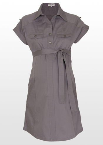 Shirt Dress on Belted Maternity Shirt Dress