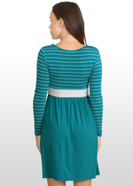 Teal & silver striped dress