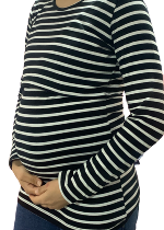 Black and White stripe Nursing top