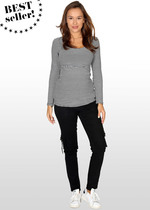 Cargo-style skinny maternity jeans