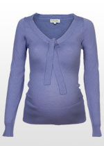 Knitted V-neck maternity pullover
