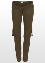 Skinny brown maternity jeans
