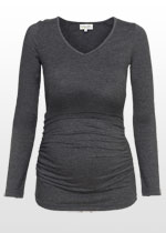 Dark grey ruched top