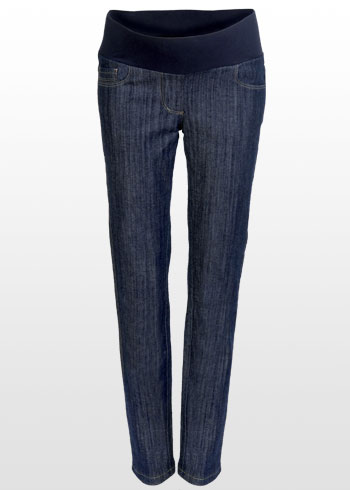 44eb7d758ed5d A great pair of skinny jeans in a dark blue wash. The fit is slim (not  ultra-skinny) so they're very comfortable. AND, they're guaranteed ...