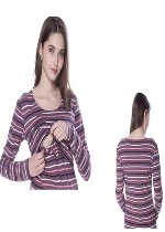 Multi/stripe nursing top