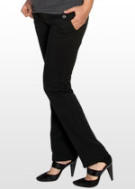 Slim-leg maternity work pants