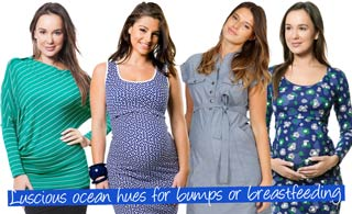 Luscious ocean hues for bumps or breastfeeding