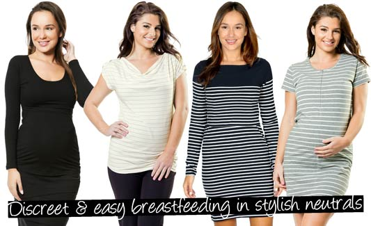 Discreet and easy breastfeeding in stylish neutrals