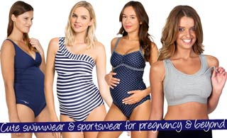 Cute swimwear and sportswear for pregnancy and beyond