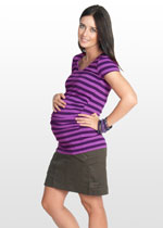 Dark mocha brown maternity mini skirt