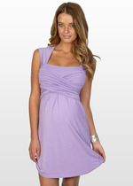 Lavender Cross-over Dress