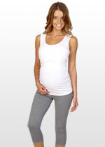 3/4 grey marle maternity leggings