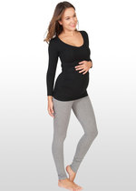 Grey marle maternity leggings