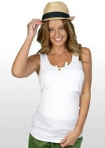 White maternity nursing singlet