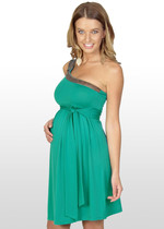 Emerald One-Shoulder Dress