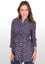 Bird-print maternity/nursing shirt