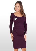 Purple Hummingbird Maternity Dress