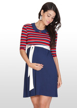 Nautical Stripe Maternity Dress