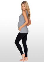 Black fold-down Maternity Leggings