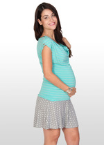 Polka Dot Maternity Skater Skirt