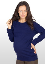 Navy Blue Maternity/Nursing Sweater