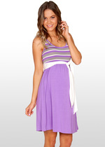 Radiant Orchid Striped Maternity Dress