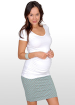 Fitted Mint Spot Maternity Skirt
