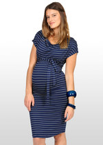 Blue & Silver Striped Dress