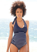 Nautical Stripe & Spot Maternity Swimsuit