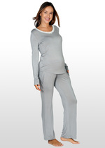 Lace Pyjamas Set - Dove Grey