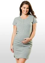 Striped Maternity/Nursing T-shirt Dress