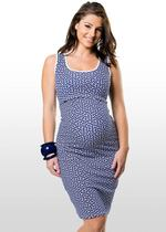 "Hexagon Print Maternity & Nursing Dress GET 20% OFF USE ""SAVE20"""