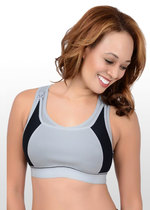 High Impact Sports Nursing Bra - Black/Grey