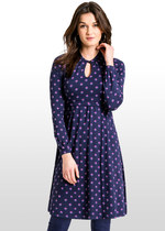 Geo Floral Maternity / Nursing Dress