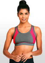 High Impact Sports Nursing Bra - Grey/Pink