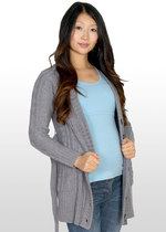 Chunky cable-knit maternity cardigan