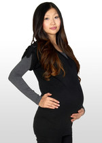 Black knitted maternity tunic