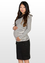 Straight black maternity work skirt