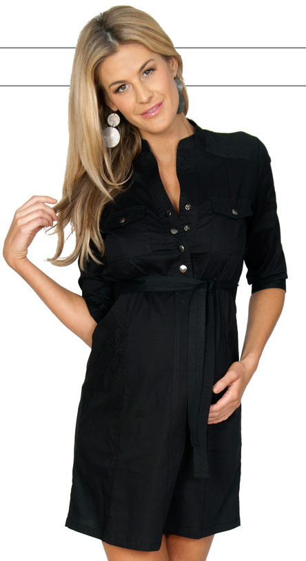 Perfect Zara Shirt Dress In Black  Lyst